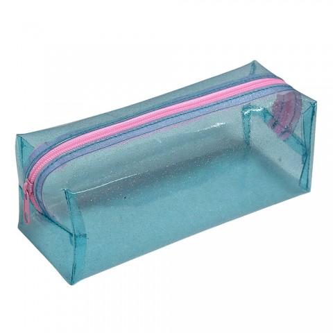 Estojo Escolar DAC em PVC Cristal Glitter - E208AZ