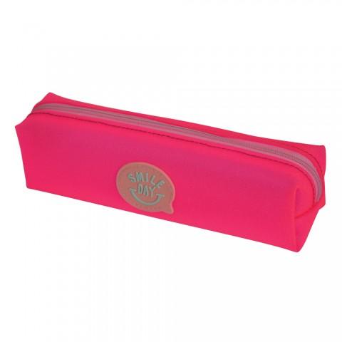 Estojo escolar DAC em PVC Smile Day Rosa