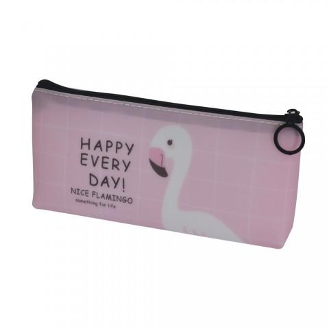 Estojo escolar DAC emborrachado Flamingo