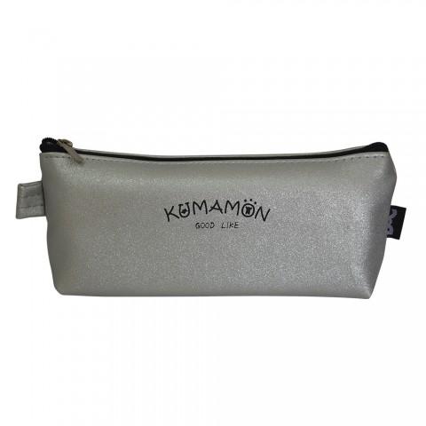 Estojo escolar DAC metalizado Kumamon Cinza