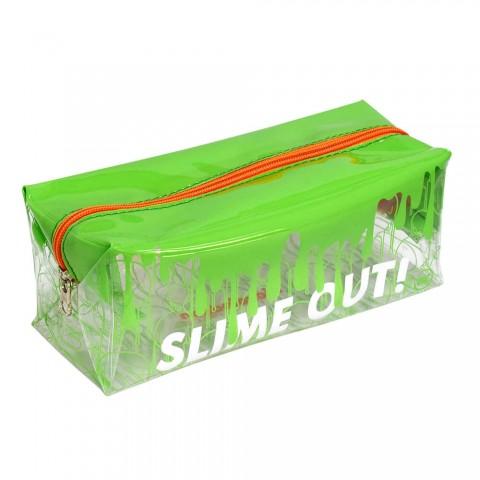 Estojo Escolar Grande em PVC Cristal Slime - 2941