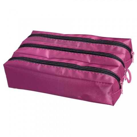 Estojo escolar triplo DAC Basic Feminino Pink