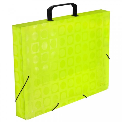 Maleta Ofício Amarela com Elástico DAC Color Bubble - 913PP-AM