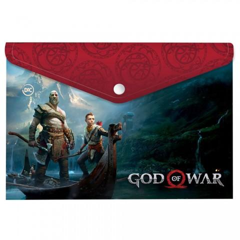 Malote A4 com Botão God of War