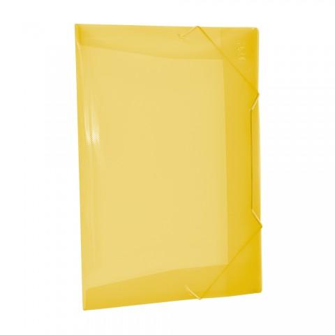 Pasta Aba Elástica 1/2 Ofício Sem Lombo Amarelo Line