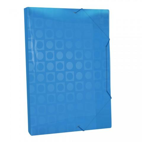 Pasta Aba Elástica Ofício com lombo de 2 cm Azul Vision