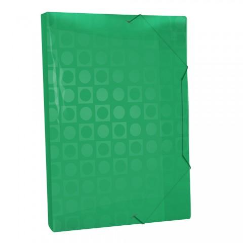 Pasta Aba Elástica Ofício com lombo de 2 cm Verde Vision