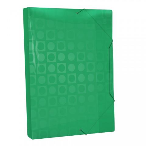 Pasta Aba Elástica Ofício com lombo de 3 cm Verde Vision