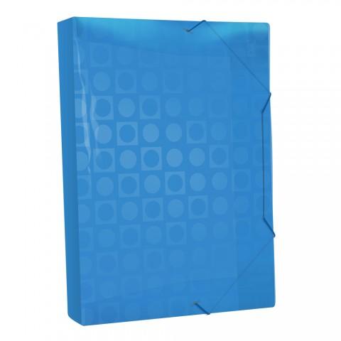 Pasta Aba Elástica Ofício com lombo de 4 cm Azul Vision