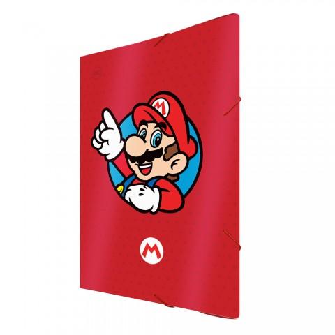 Pasta Aba Elástica Ofício sem Lombo Super Mario