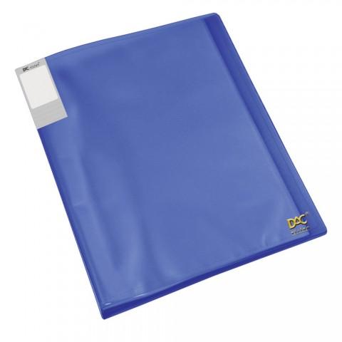 Pasta Catálogo A4 DAC Azul Translúcida com 40 Envelopes Finos