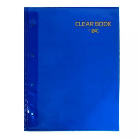 Pasta Catálogo A4 DAC Clean Book Azul com 20 Envelopes Médios