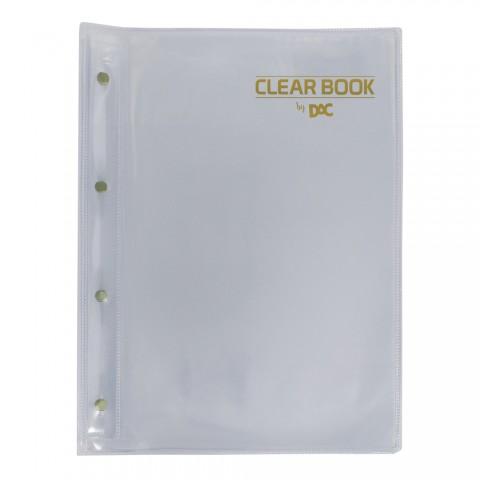 Pasta Catálogo A4 DAC Clean Book Transparente com 20 Envelopes Médios