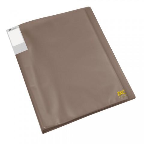 Pasta Catálogo A4 DAC Fumê Translúcida com 20 Envelopes Finos