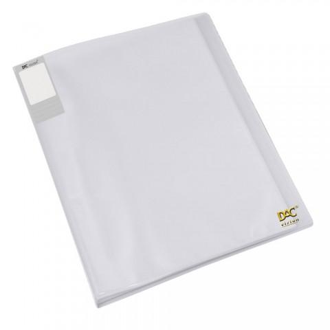 Pasta Catálogo A4 DAC Transparente Translúcida com 40 Envelopes Finos