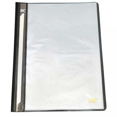 Pasta Catálogo A4 Frente Transparente e Verso Preto com 10 envelopes