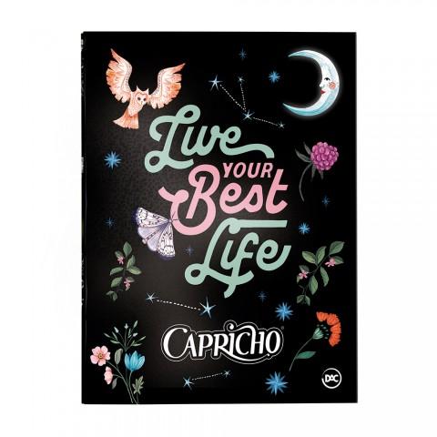 Pasta Catálogo Ofício com Lombo Ajustável Capricho Night Forest + 10 Envelopes - 3198