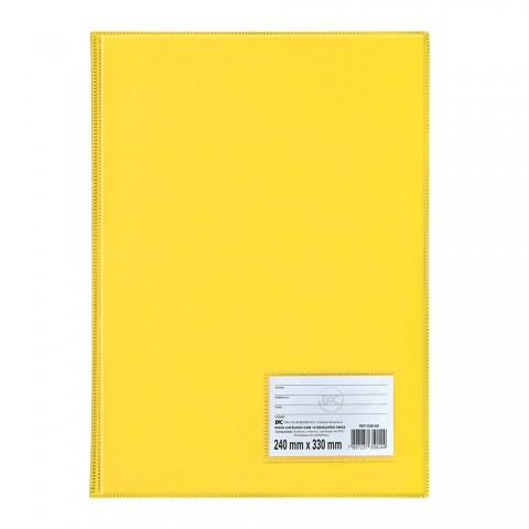 Pasta Catálogo Ofício DAC Amarela com 10 Envelopes Finos