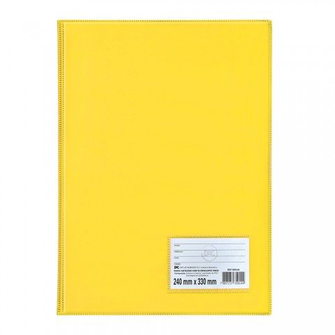Pasta Catálogo Ofício DAC Amarela com 50 Envelopes Finos