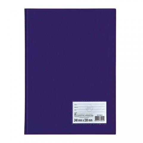 Pasta Catálogo Ofício DAC Azul com 10 Envelopes Finos