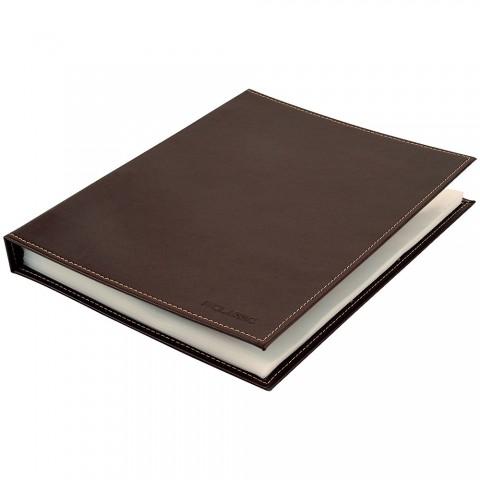 Pasta Catálogo Ofício DAC Classic Marrom com 50 Envelopes Grossos