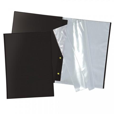 Pasta Catálogo Ofício DAC Preta com 10 Envelopes Finos (s/ visor)