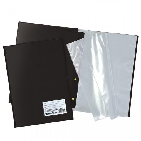 Pasta Catálogo Ofício DAC Preta com 10 envelopes finos