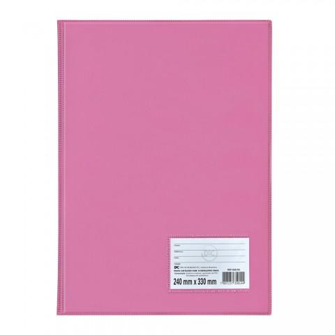 Pasta Catálogo Ofício DAC Rosa com 10 Envelopes Finos