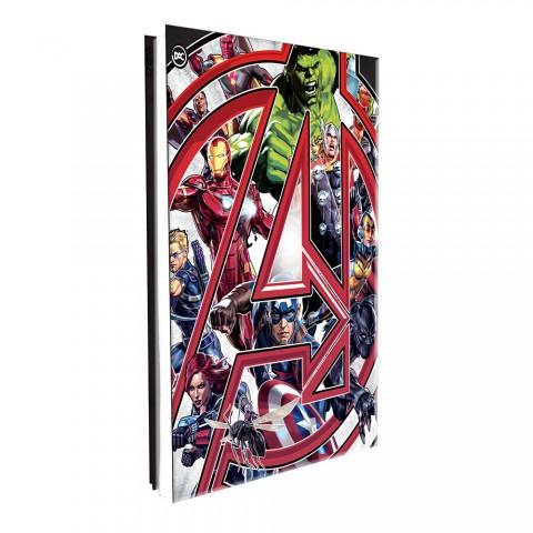 Pasta Catálogo Ofício Lombo Ajustável Avengers com 10 Envelopes Médios