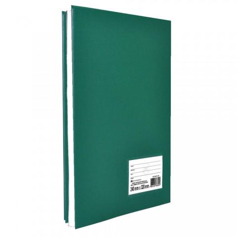 Pasta Catálogo Ofício sem Lombo DAC Percalux Verde com 10 Envelopes Médios