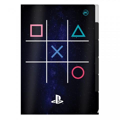 Pasta em L com 5 divisórias A4 PlayStation