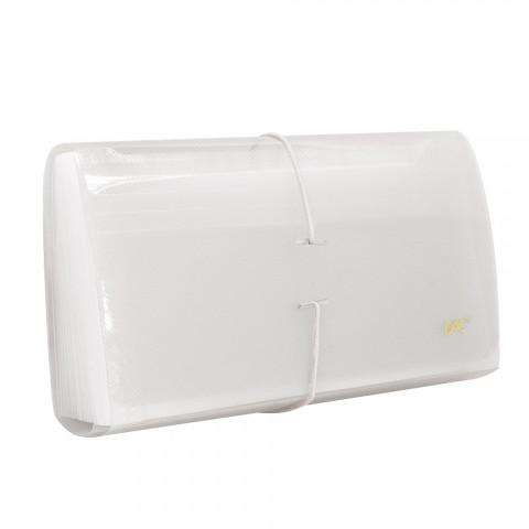 Pasta Sanfonada Porta Cheque com 31 Divisões DAC Transparente Line