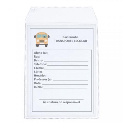 Protetor para Carteirinha de Transporte Escolar - 20 unid
