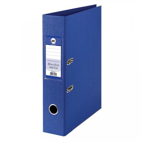 Registrador AZ com lombo 7,5 cm DAC Percalux Azul