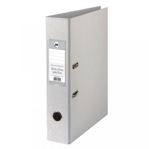 Registrador AZ com lombo 7,5 cm DAC Percalux Cinza