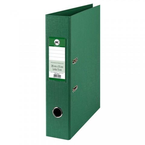 Registrador AZ com lombo 7,5 cm DAC Percalux Verde