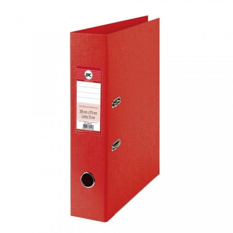 Registrador AZ com lombo 7,5 cm DAC Percalux Vermelho