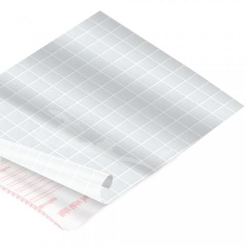 Rolo de Plástico Adesivo Jateado Quadriculado DAC 45 cm x 2 mt - 173801