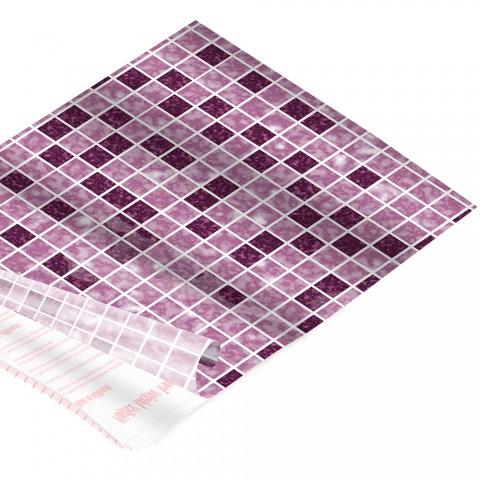 Rolo de Plástico Adesivo Ladrilho Rosa DAC 45 cm x 2 mt - 171202