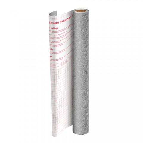 Rolo de Plástico Adesivo Prata com Glitter DAC 45 cm x 10 mt - 1703PT