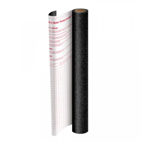 Rolo de Plástico Adesivo Preto com Glitter DAC 45 cm x 10 mt - 1703PR