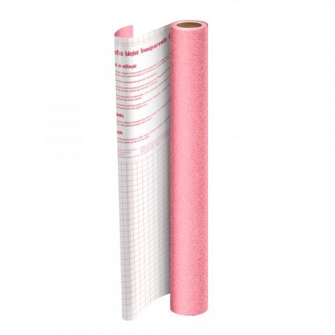 Rolo de Plástico Adesivo Rosa com Glitter DAC 45 cm x 2 mt - 1711RS
