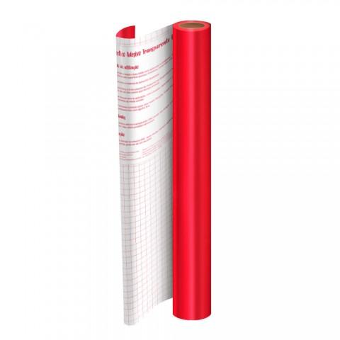 Rolo de Plástico Adesivo Vermelho Metalizado DAC 45 cm x 10 mt - 1751VM