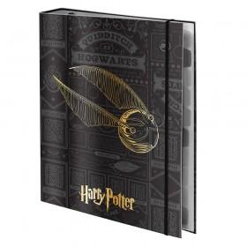 Fichário Universitário Fechamento em Elástico Harry Potter com 48 Folhas - 3048