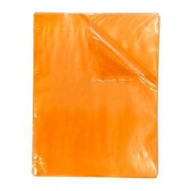 Envelope Plástico A4 Laranja DAC Color Bubble com espessura Média e 4 Furos - 50 unid - 5089A4-50