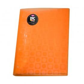 Pasta Catálogo A4 Laranja DAC Color Bubble com 10 Envelopes Coloridos Neon - 908PP-LR