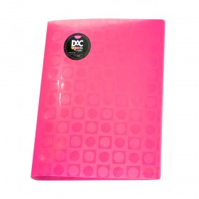 Pasta Catálogo A4 Rosa DAC Color Bubble com 10 Envelopes Coloridos Neon - 908PP-RS