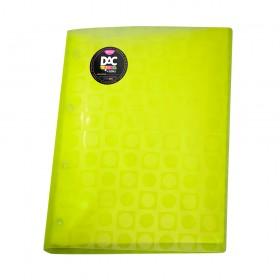 Pasta Catálogo A4 Amarela DAC Color Bubble com 10 Envelopes Médios Coloridos Neon - 908PP-AM