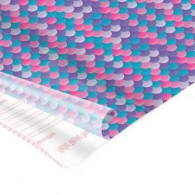 Adesivo Plástico Sereia 35 cm x 50 cm - 5 unid
