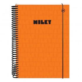 Caderno 10 matérias DAC Milky Laranja - 3036LR